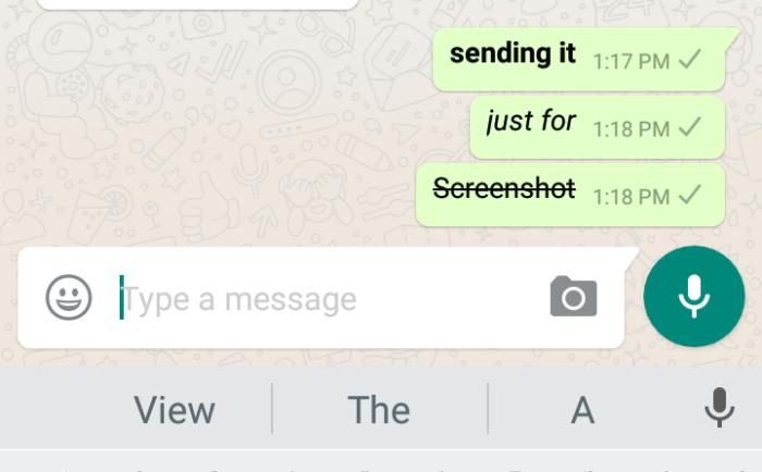bold italic strike through in whatsapp