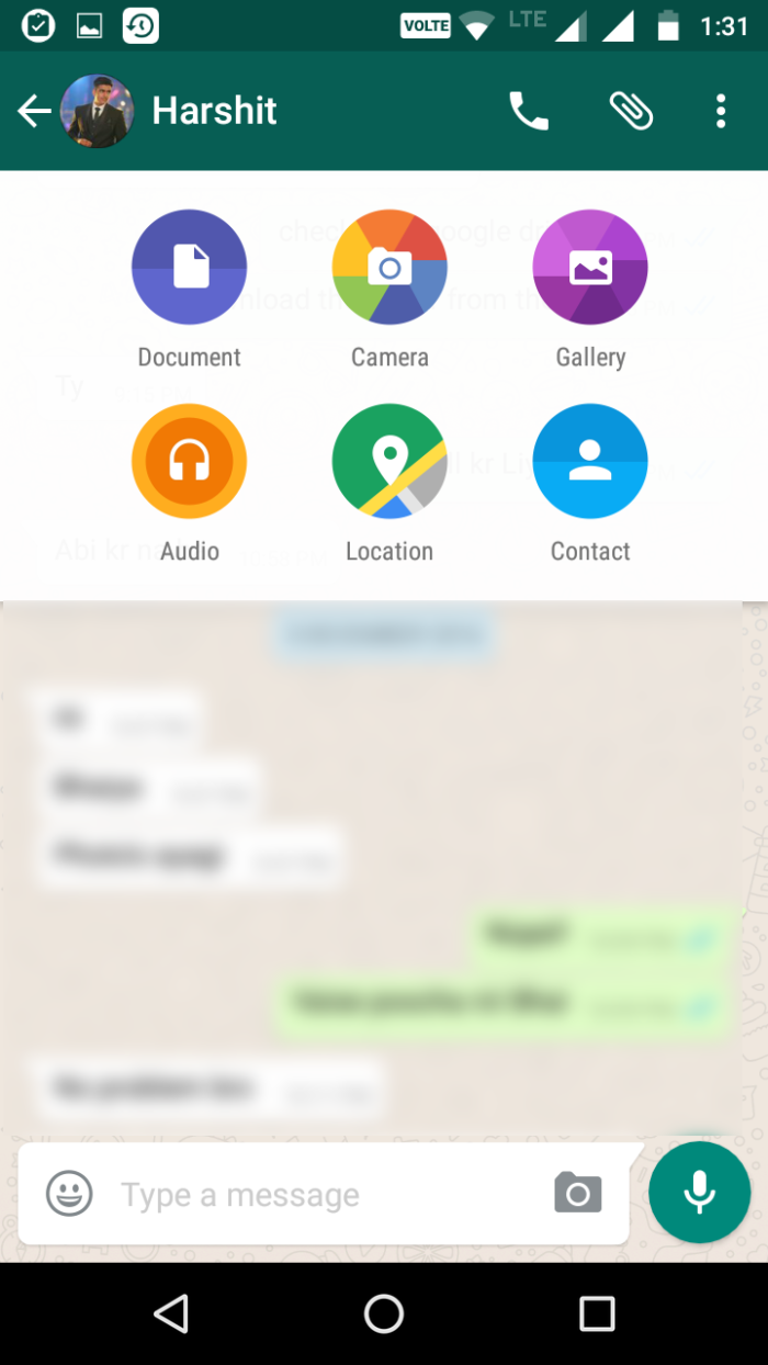 send documents, gif , location on whatsapp