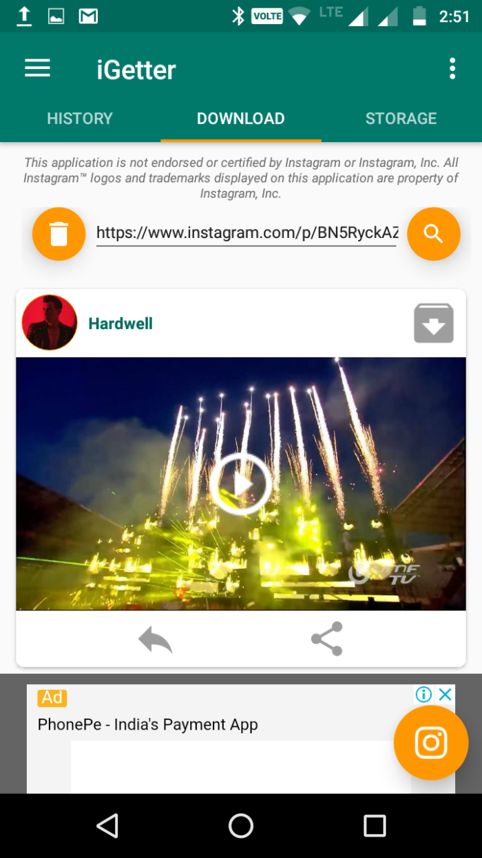 how to download videos from Instagram
