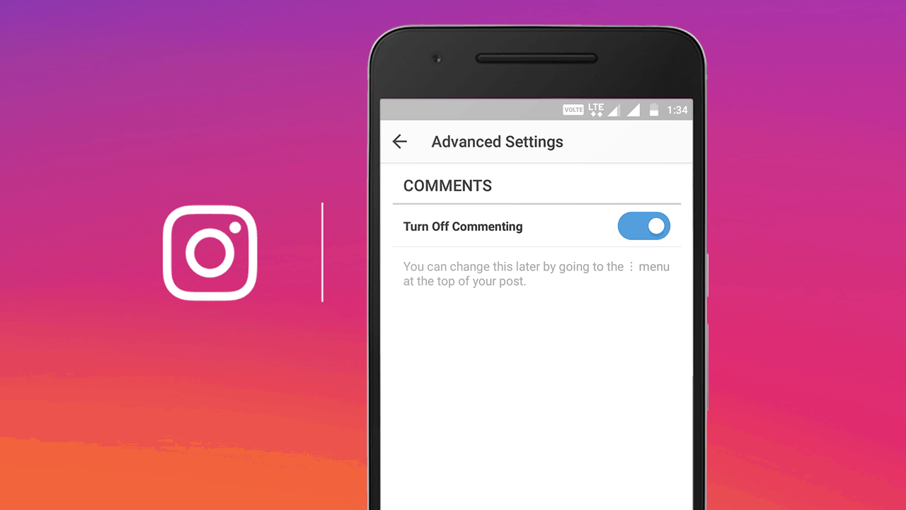 turn off instagram comment