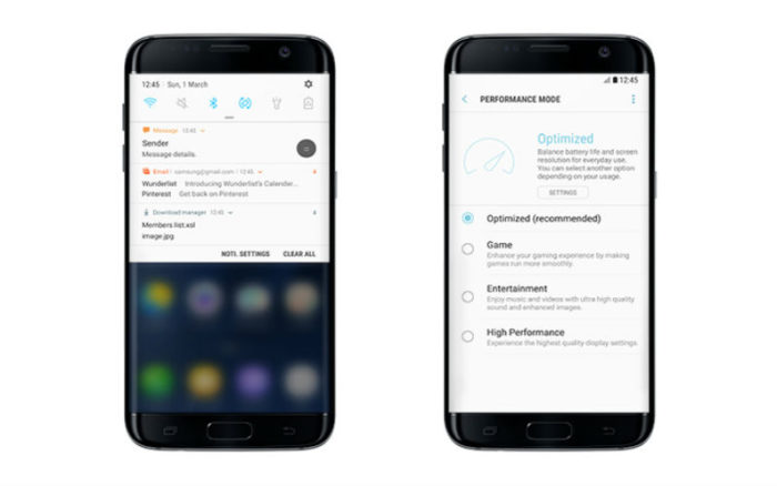Samsung Galaxy S7 Android 7.0 Nougat