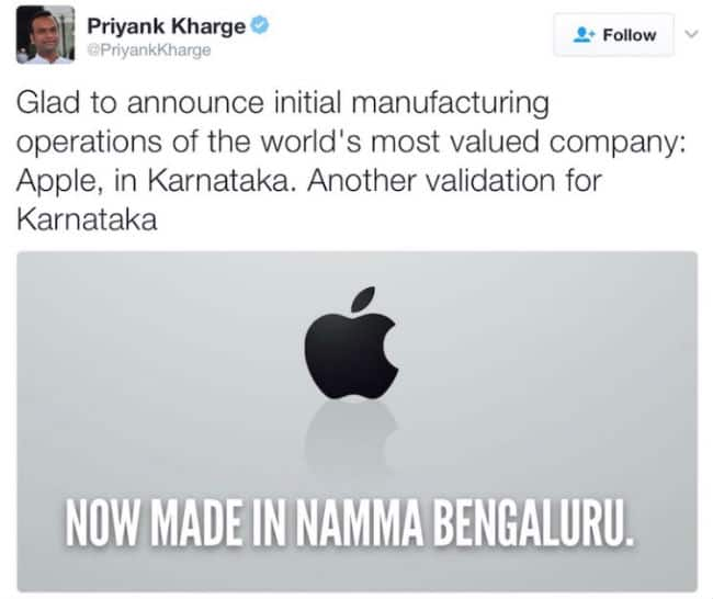Apple Manufacturing in India