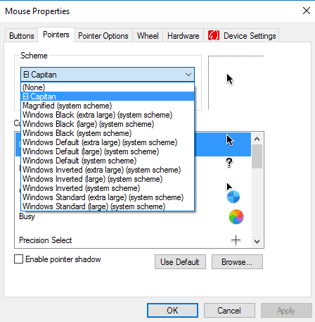 mac cursor on windows