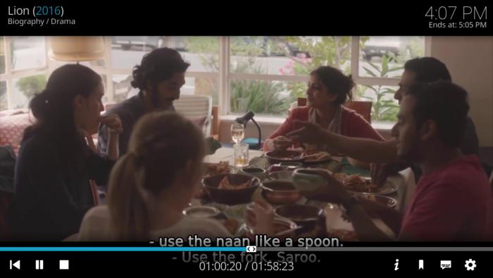 add subtitles Kodi krypton