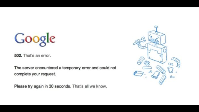 google facts the tech toys google crashed