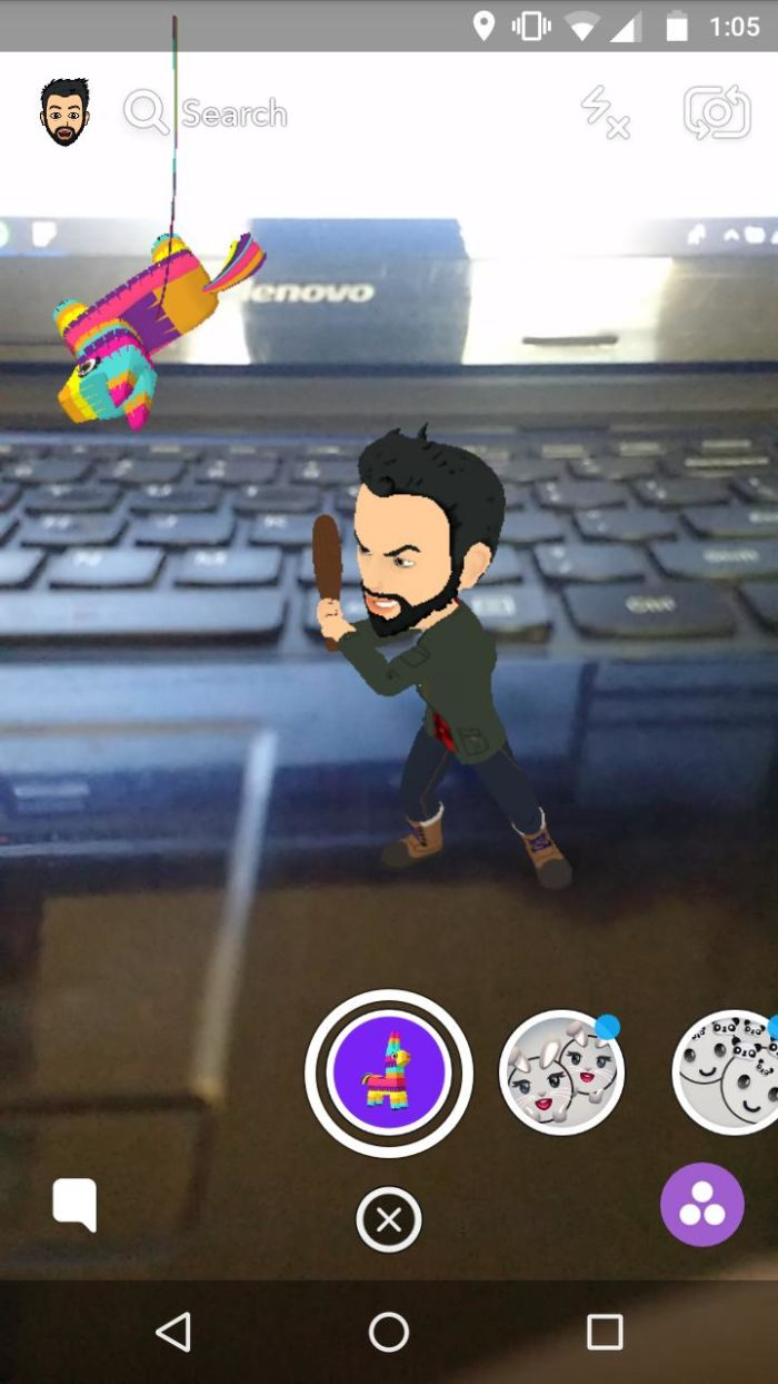 snapchat AR stickers how to use