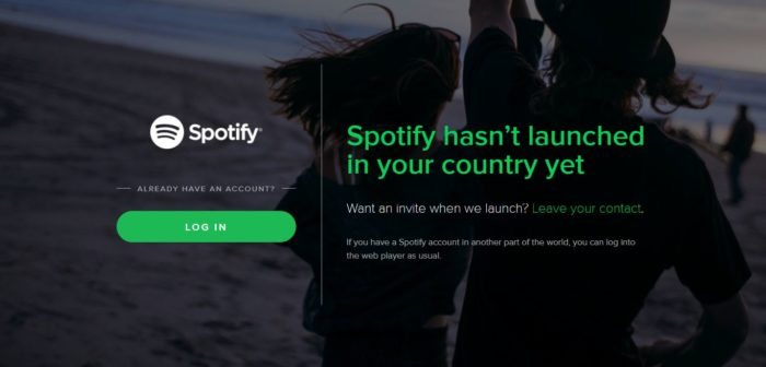 how to use Spotify in india