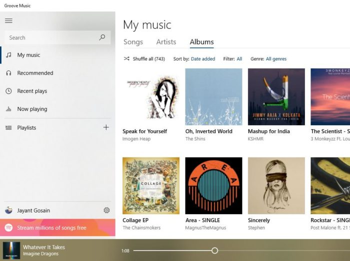 spotify for Windows 10